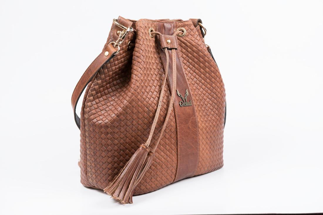 3 In 1 Straw Effect Bucket Bag Tan