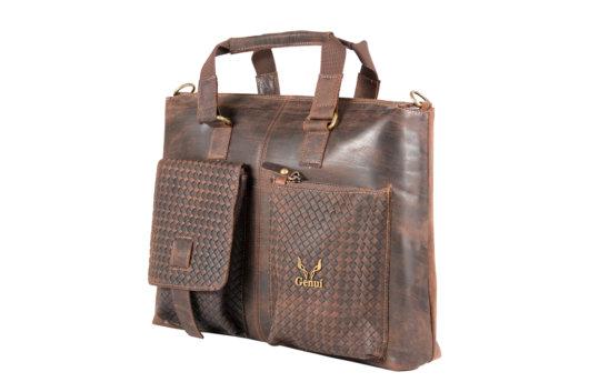 Messenger Bag Καφε Pull Up