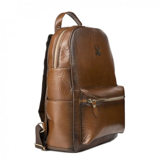 BACKPACK WITH BLACK SHADOWS EFFECT IN TAN