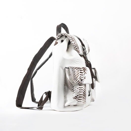 BACKPACK WITH HOOK - WHITE