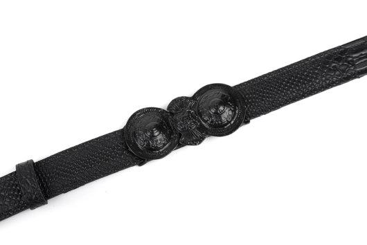 Δερματινη Ζωνη με παραδοσιακή αγκραφα Μαυρη (Μαυρο)