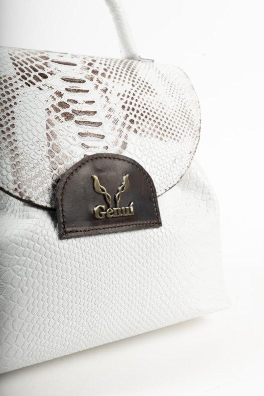 Τσαντα με καπακι 3 σε 1 Λευκο