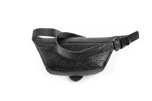 Τσαντα μεσης με καπακι vintage style μαυρη
